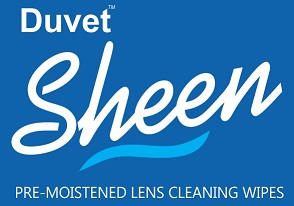 DUVET SHEEN logo blue